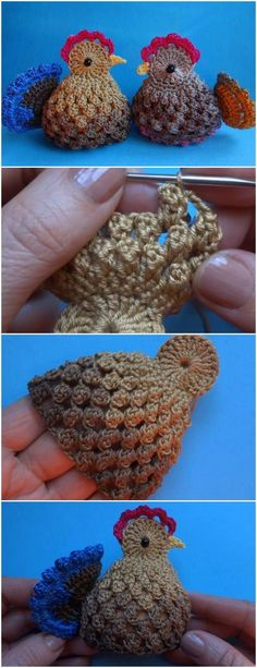"Crochet Easter Chickens Free Pattern Video ""Husband Illustrates Everyday Life With His Wife, Proves Love Is In The Little Things"" Crochet Easter, Easter Crochet Patterns, Crochet Birds, Holiday Crochet, Cute Crochet, Crochet Flowers, Vintage Crochet Patterns, Crocheting Patterns, Crochet Animals"
