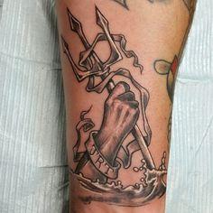 trident #triton #Poseidon #Neptune #Aegir #nautical #sea #tattoo ...