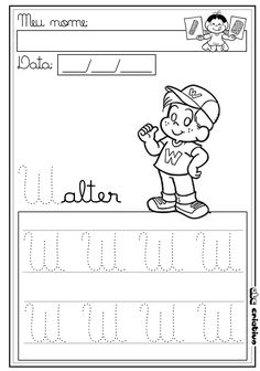 Tracing Letters, Acting, Lettering, Comics, Reading, Fictional Characters, Gabriel, Infant Activities, Letter W Activities
