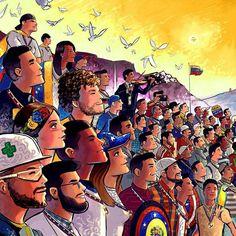 """#Guayana despierta desde hace tiempo hoy #7J su juventud marcha.  @Regrann from @olivarescfc -  Los héroes de la Libertad... Son ellos quienes hoy protagonizan una de mis obras con mayor significado son ellos los que han dejado la vida luchando por un mejor país para todos... Son ellos que hoy llevan la medalla de """"HÉROES DE LA LIBERTAD""""... Son ellos quienes hoy están junto a nuestros proceres... Y es por ellos que hoy debemos seguir adelante porque el mejor homenaje que podemos darles es…"""