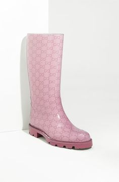 pink Gucci rainboot
