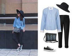 The Fedora hat is coming back as a super cool trend. Do you have one? We love casual look for New York Fashion Week.