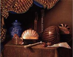 Omaggio a Baschenis Olio su tela 100 x 80