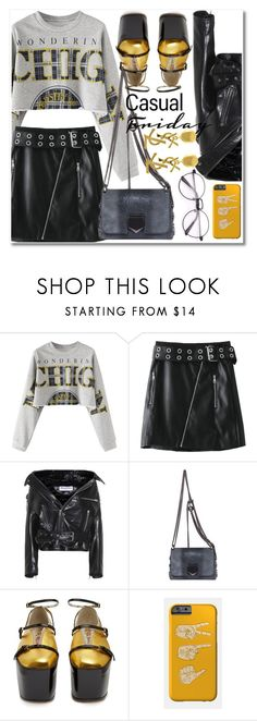 """Raw Hem Graphic"" by laurafox27 ❤ liked on Polyvore featuring Balenciaga, Jimmy Choo, Gucci and Yves Saint Laurent"