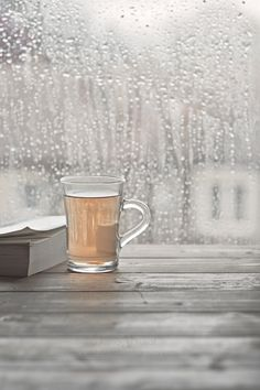 Hot Tea & A Book, Let It Rain - love the rain 'specially when reading