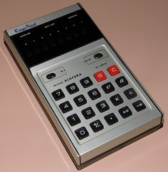 Vintage Kings Point Micro Algebra Electronic Pocket Calculator, Model 8413, Made In Japan, VFD, Circa 1973.