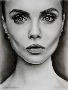 wonderful cara delevigne drawing