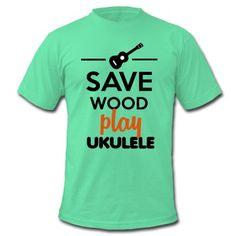 Musiker Ukulele fun Shirts. Rettet die Bäume und die Umwelt spielt lieber das Hawaiianisches trauminstrument Ukulele. Witzige Musikinstrumente und lustige Shirts.