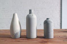 DIY: concrete vases