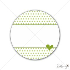 12St - 40mm Aufkleber Dot Herz Apfelgrün