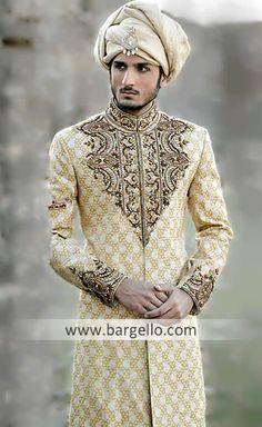 [[4]] M669 Pakistani Designer Sherwanis East London, Indian Wedding Sherwanis East London, Traditional Sherwani Men