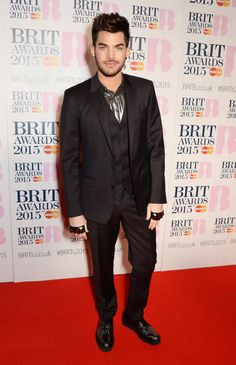 Pin for Later: The Brit Awards Red Carpet Was More Glamorous Than Ever This Year Adam Lambert The singer, who's currently touring with Queen, added flair to his suit with a silver shirt.