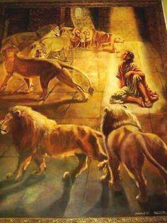 Daniel in the lion's pit. Daniel 6:1-23