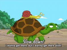 Slow down!