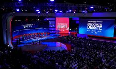 ABC News Democratic Debate Broadcast Set Design Gallery George Stephanopoulos, Tv Set Design, Abc News, Over The Years, Gallery, Roof Rack