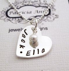 Personalized+Jewelry++Sterling+Silver+Heart++by+PatriciaAnnJewelry,+$42.50