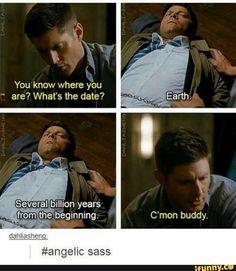 Funny Supernatural Posts That Remind You It's The Best Show Ever (Episode Supernatural Destiel, Supernatural Imagines, Dean And Castiel, Sam Dean, Jensen Ackles, You Know Where, Thing 1, Comic, Super Natural