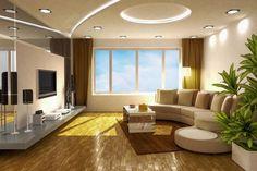 led streifen deckenbeleuchtung wohnzimmer gelbes licht ...