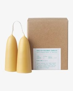 English Beeswax Candles | TOAST