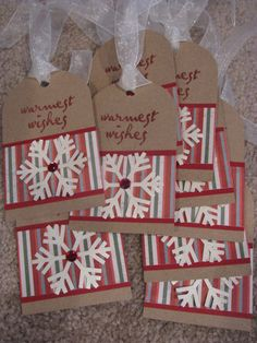 Handmade Christmas Gift Tags by Heathergue on Etsy, $7.00