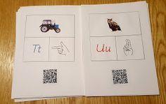 Min blogg om allt mellan himmel och jord: Alfabetet med tecken och QR koder