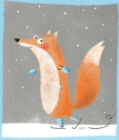 Red fox art by Camille Loiselet Fuchs Illustration, Children's Book Illustration, Fox Drawing, Painting & Drawing, Animal Drawings, Cute Drawings, Art Fox, Illustration Inspiration, Illustration Mignonne