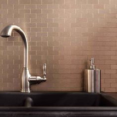 Show details for Aspect Backsplash-Mini Subway-Champagne-Matted