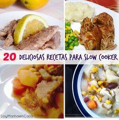 20 deliciosas #recetas para Olla de Cocción Lenta o Slow Cooker  #slowcooker #recetasfaciles http://soymamaencasa.com/2014/05/20-recetas-para-slow-cooker.html