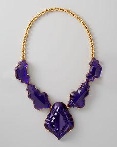 Resin Chandelier Necklace Dark Purple - Lyst