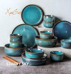 Ceramic Tableware, Ceramic Pottery, Dinner Sets Uk, Ceramic Dinner Set, Steak Plates, Design Plat, Dish Sets, Nordic Style, Kitchen Gadgets