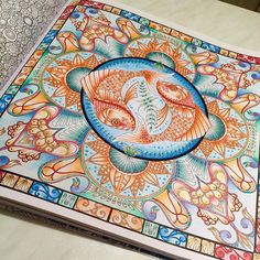 #johannabasford #lostocean #mycreativeescape #colouring #adultcolouringbook #adultcolouringin #adultcolouring