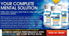 Brain Peak pill is a brain booster supplement that uplifts your overall mental health, making your mind sharper and active. Pls Visit Here: http://www.healthboostup.com/brain-peak/