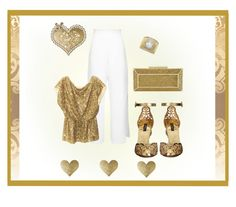 """""""Metallic gold with white"""" by leaff88 ❤ liked on Polyvore featuring Miss Selfridge, Alice + Olivia, Oliver Gal Artist Co., BCBGMAXAZRIA and Dolce&Gabbana"""