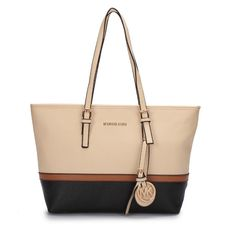 #PinLove Make The World More Beautiful And Colorful With Michael Kors Jet Set Travel Large Ivory Totes.
