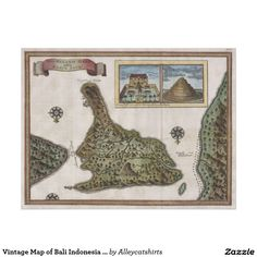 Vintage Map of Bali Indonesia (1760) Poster