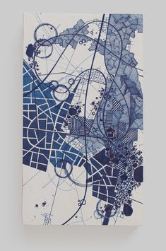 Asvirus 39 - 2013 ink on paper mounted to panel 8.75 x 5 x 2.25 in