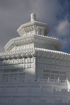 Sapporo Snow Festival by brianfarrell, via Flickr (Life size - even the railings are made of snow and ice)
