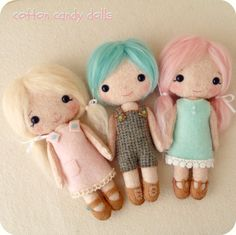 Cotton Candy Dolls pdf Pattern Instant Download by Gingermelon