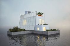 floating house proposal by carl turner architects for paperhouses