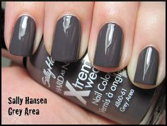 Grey Area by Sally Hansen, I have this color, it's actually more of a dark purple than actual grey