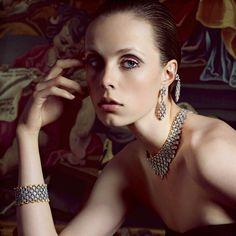 "Edie Campbell in ""Cous de Foudre"" by Inez van Lamsweerde & Vinoodh Matadin for Vogue Paris November 2015"