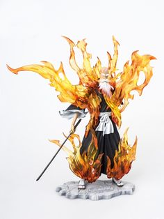 242.25$  Watch now - http://aliugx.worldwells.pw/go.php?t=32679836931 - MODEL FANS IN-STOCK AFORCE 22cm BLEACH Yamamoto Genryuusai Shigekuni bankai mode GK resin made for Collection