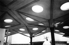 Jean Prouvé:  Exhibiton hall for La Societe Saint-Gobain-Pont-A-Mousson at the World Fair, Brussels, 1958. - So Cool.