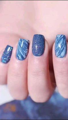 Nail Art Designs Videos, Nail Art Videos, Simple Nail Art Designs, Nagellack Design, Nagellack Trends, Nail Art Hacks, Nail Art Diy, Gel Nail Art, Easy Nail Art