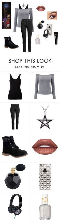 """""""FNAF: Trapped At Freddy's... Here Comes a Thought"""" by gravityfallsgirl33 ❤ liked on Polyvore featuring Theory, Timberland, Lime Crime, Casetify, Panasonic, Freddy, Essie and Bobbi Brown Cosmetics"""