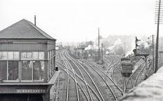 St Margaret's Locomotive Depot, 1962 (C) Ben Brooksbank Grey Wallpaper Iphone, London Underground Tube, Steam Railway, St Margaret, British Rail, Water Tower, Abandoned Buildings, Locomotive, Edinburgh