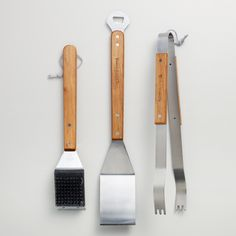 Stainless Steel 3-Piece Grilling Tool Set | World Market