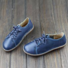 Aliexpress.com : Buy Women Shoes Flat Hand made Leather Flat Shoes Round toe Lace up Ladies Flat Shoes Female Footwear (568 8) from Reliable shoe belt suppliers on OhAnna Shoes Store