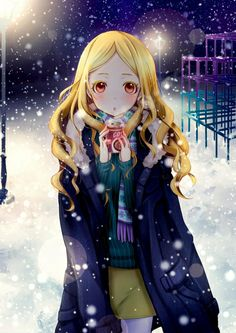 Who could she be sharing this magical winter night with?