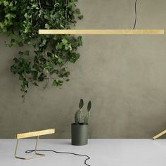 Brushed or polished Brass pendant or table lamp – OLLO